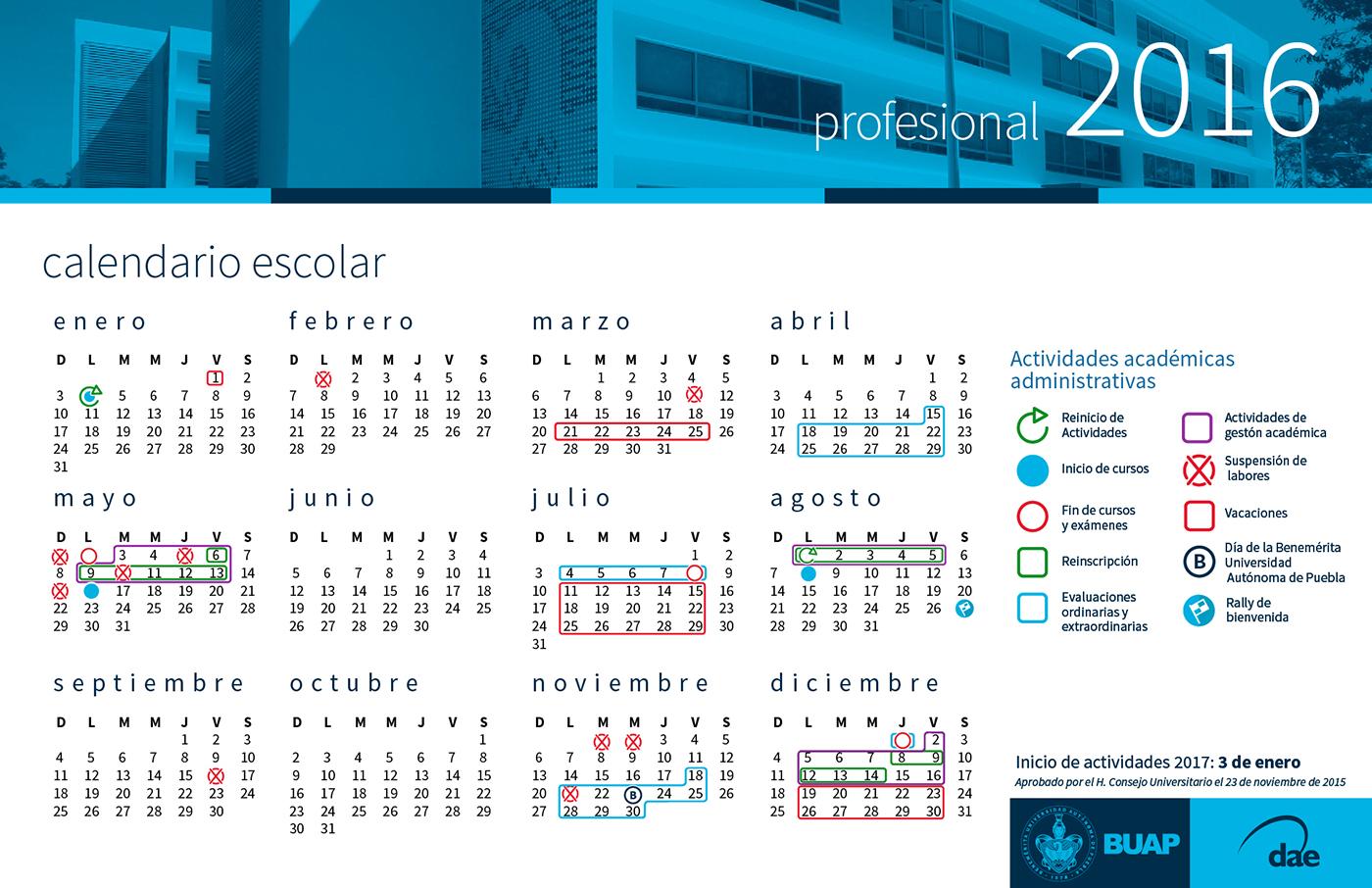 Calendario 2016 Mx | Calendar Template 2016