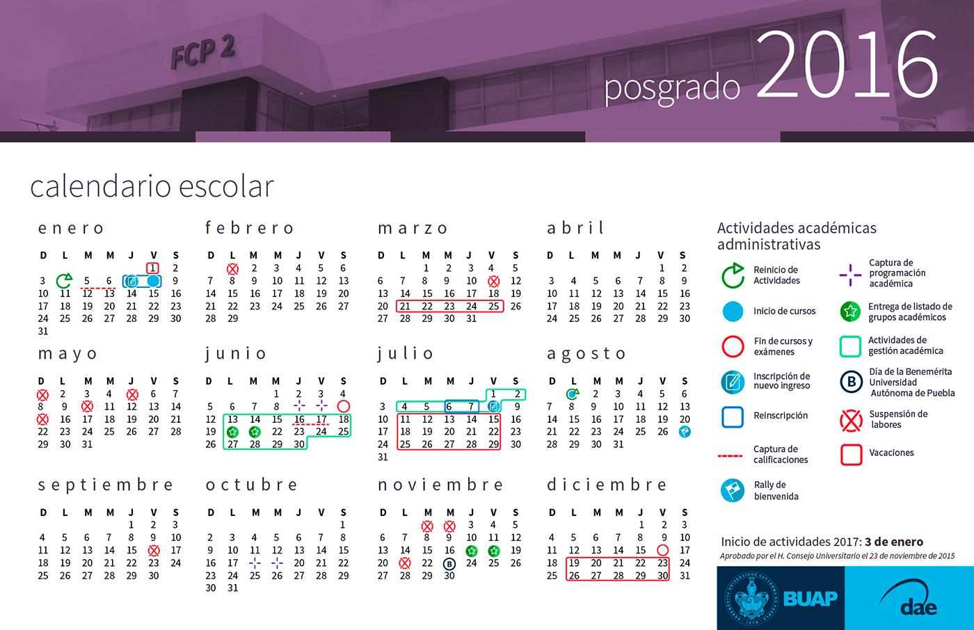 Calendario De Actividades Eventos: Benemérita Universidad