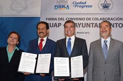 BUAP y Ayuntamiento de Puebla firman convenio de colaboración