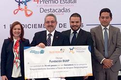 Fundación BUAP gana Premio Estatal a las Organizaciones Civiles Destacadas