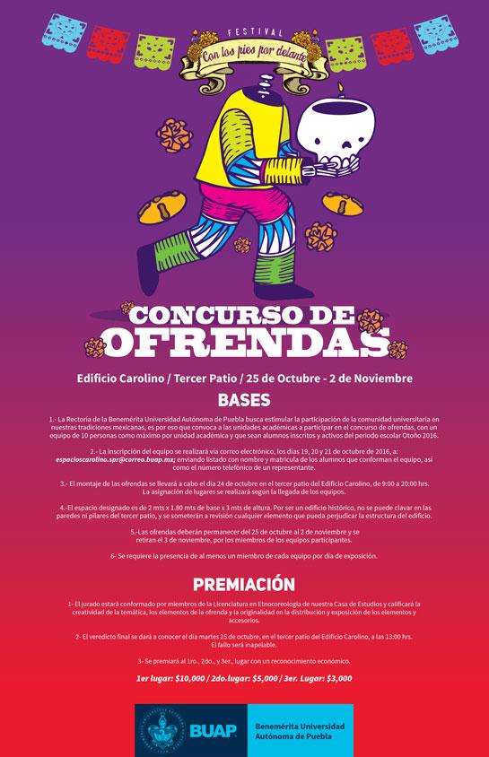Convocatoria concurso de ofrendas benem rita universidad for Convocatoria concurso de docentes 2016